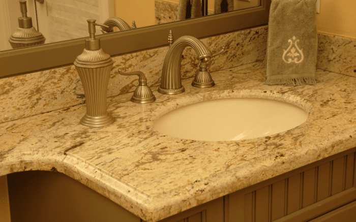 delicatus white countertops granite countertop bathroom birmingham photo traditional