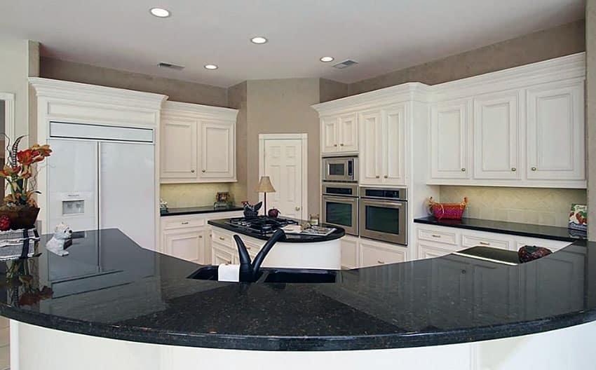 Black Granite Countertops With White