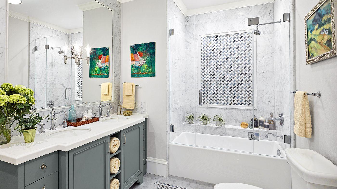 marble countertops in Atlanta bathrooms