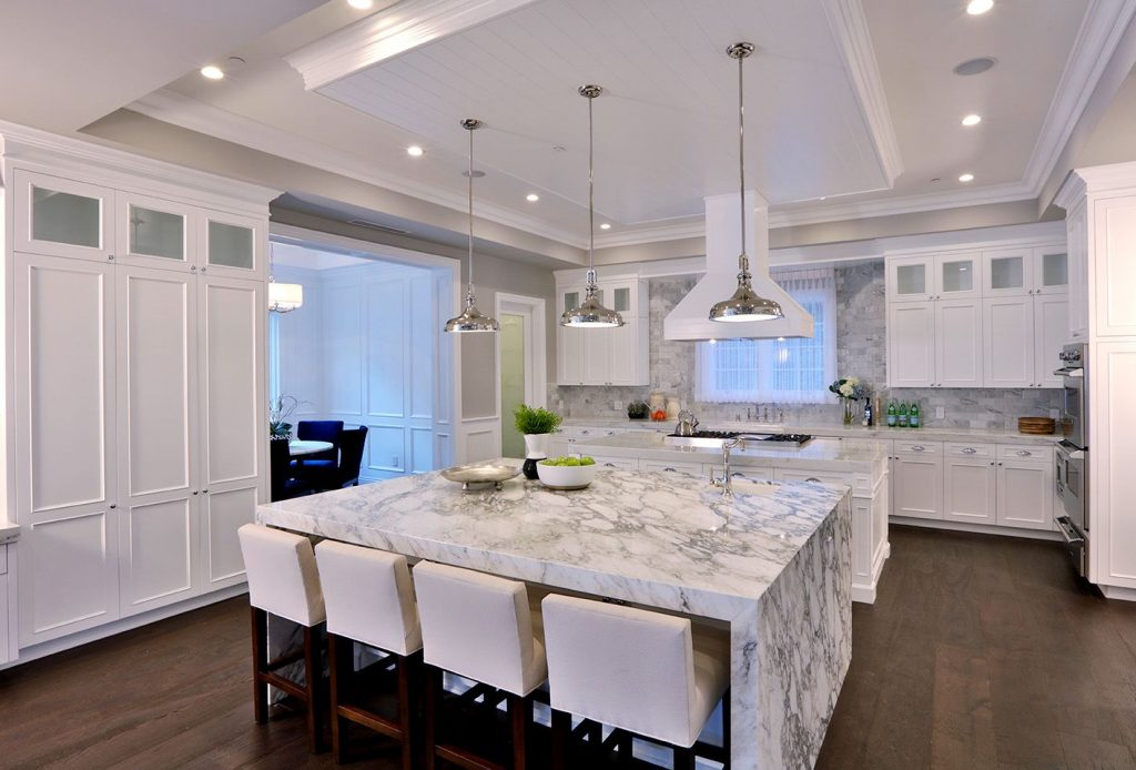 installed marble countertop