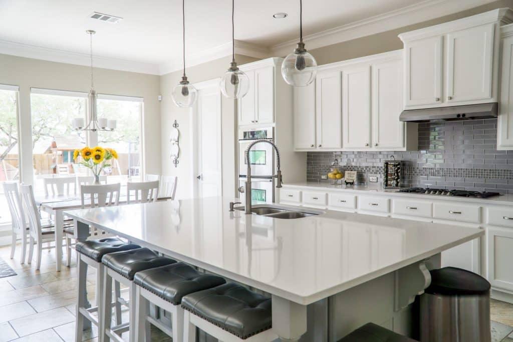 Quartzite countertops in Atlanta kitchens
